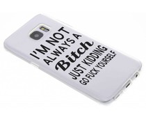 Quote design TPU hoesje Samsung Galaxy S7 Edge