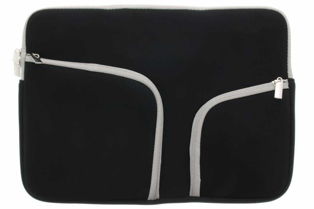 Zwarte universele neopreen laptoptas voor de Macbook 11.6 inch