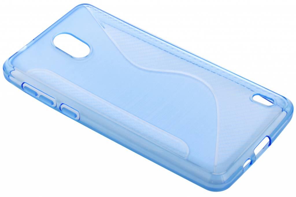 Blauw S-line TPU hoesje voor de Nokia 2