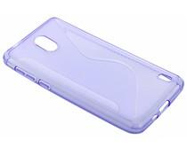 Paars S-line TPU hoesje Nokia 2