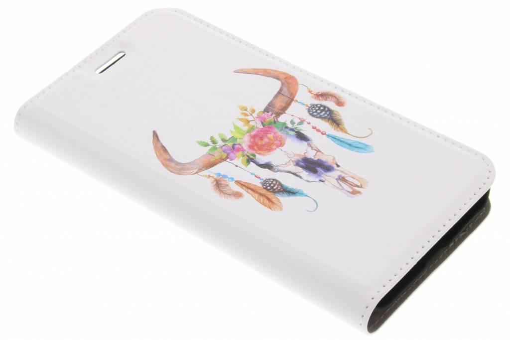 Bull Skull Design Booklet voor de Samsung Galaxy Xcover 4