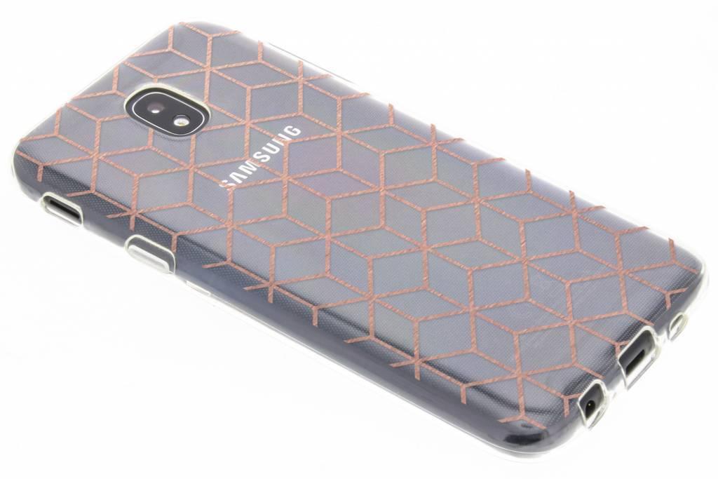 Cubes Rose Gold design TPU hoesje voor de Samsung Galaxy J5 (2017)