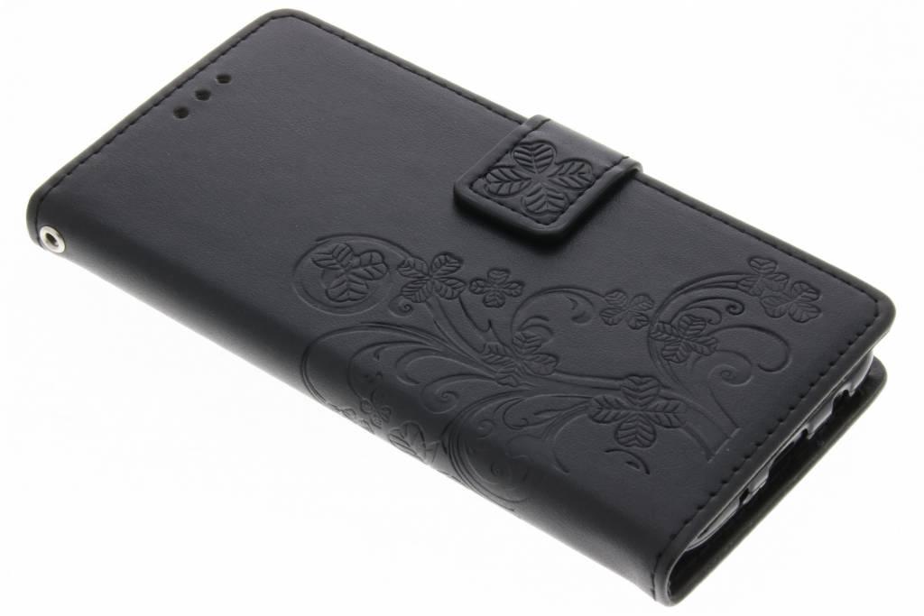 Fleurs De Trèfle Noir Couverture Booktype Pour Samsungâ Galaxya J5 (2017) cSoW4US