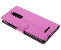 Roze luxe booktype hoes Wiko View