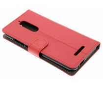 Rood luxe booktype hoes Wiko View