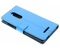 Blauw luxe booktype hoes Wiko View