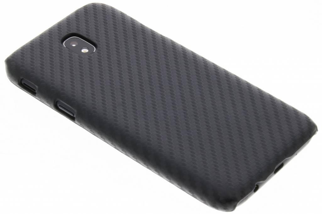 Zwart carbon look hardcase hoesje voor de Samsung Galaxy J5 (2017)