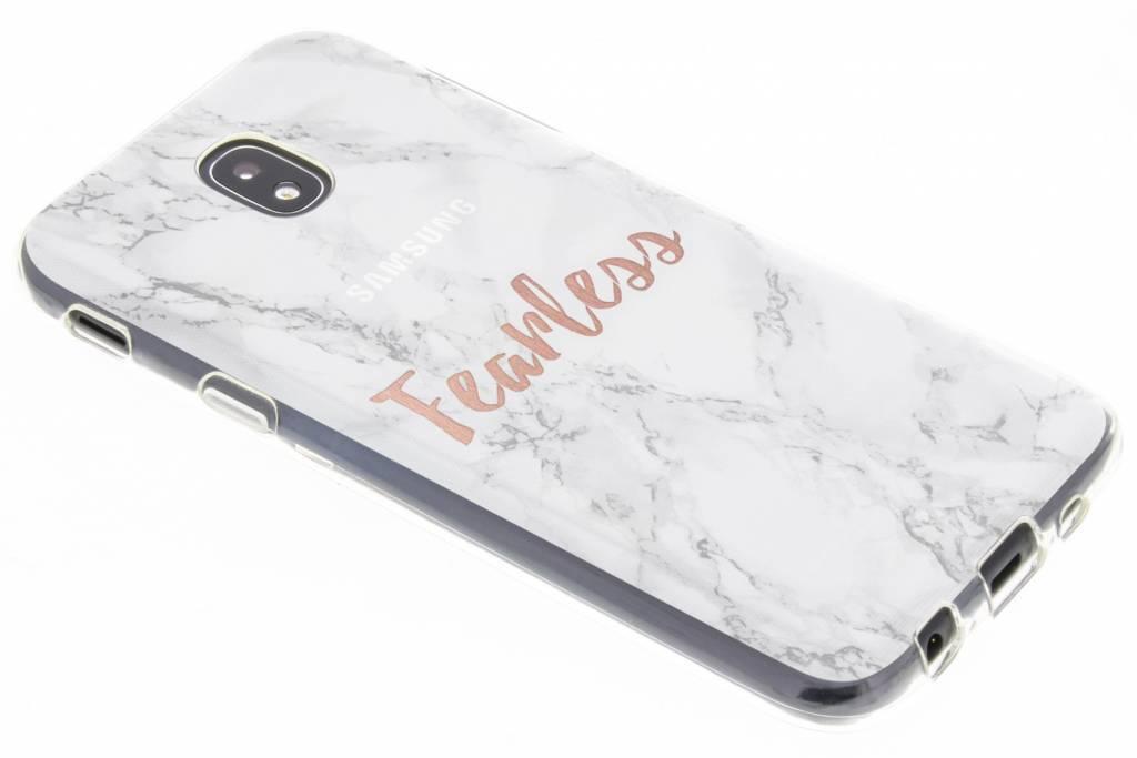 Citation Design En Marbre Cas Sans Peur Tpu Bord De Samsung Galaxy S BJpKDt