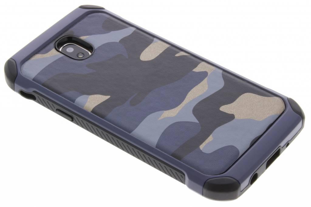 Blauwe Army defender hardcase hoesje voor de Samsung Galaxy J5 (2017)
