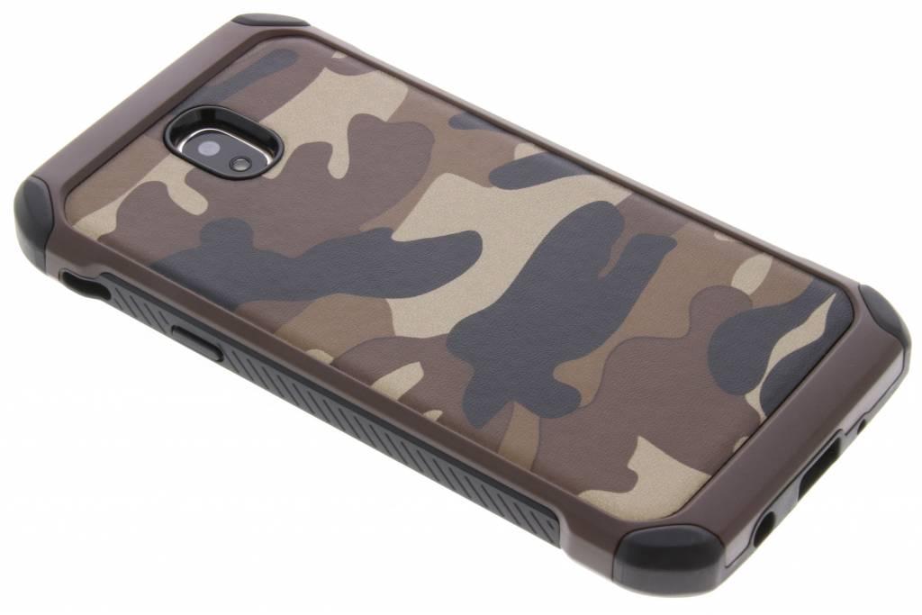Bruine Army defender hardcase hoesje voor de Samsung Galaxy J5 (2017)