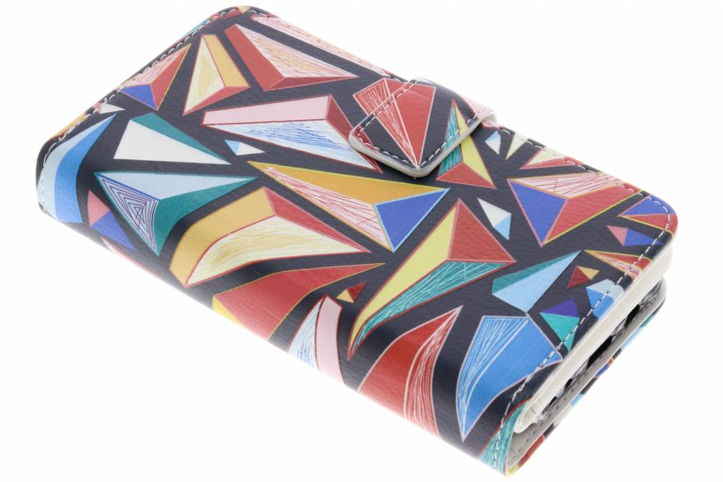 Grafische Vlakken design TPU portemonnee voor de Samsung Galaxy J5