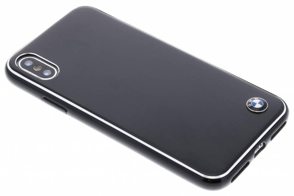 BMW Zwarte Brushed Aluminium Hard Case voor de iPhone X