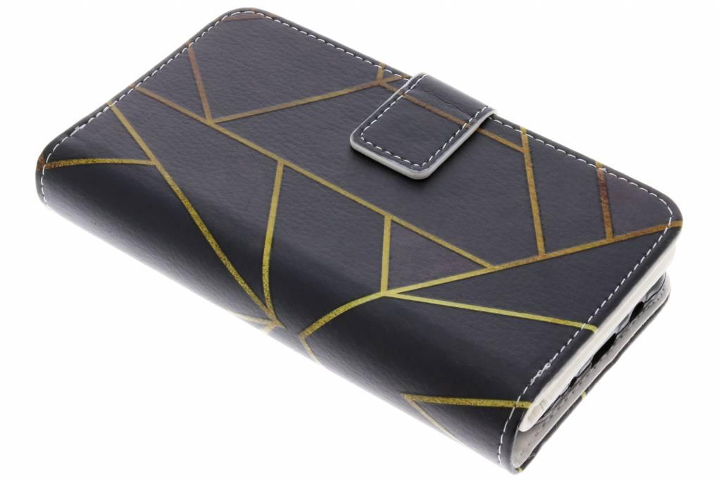 Zwart Grafisch design TPU portemonnee voor de Samsung Galaxy J5