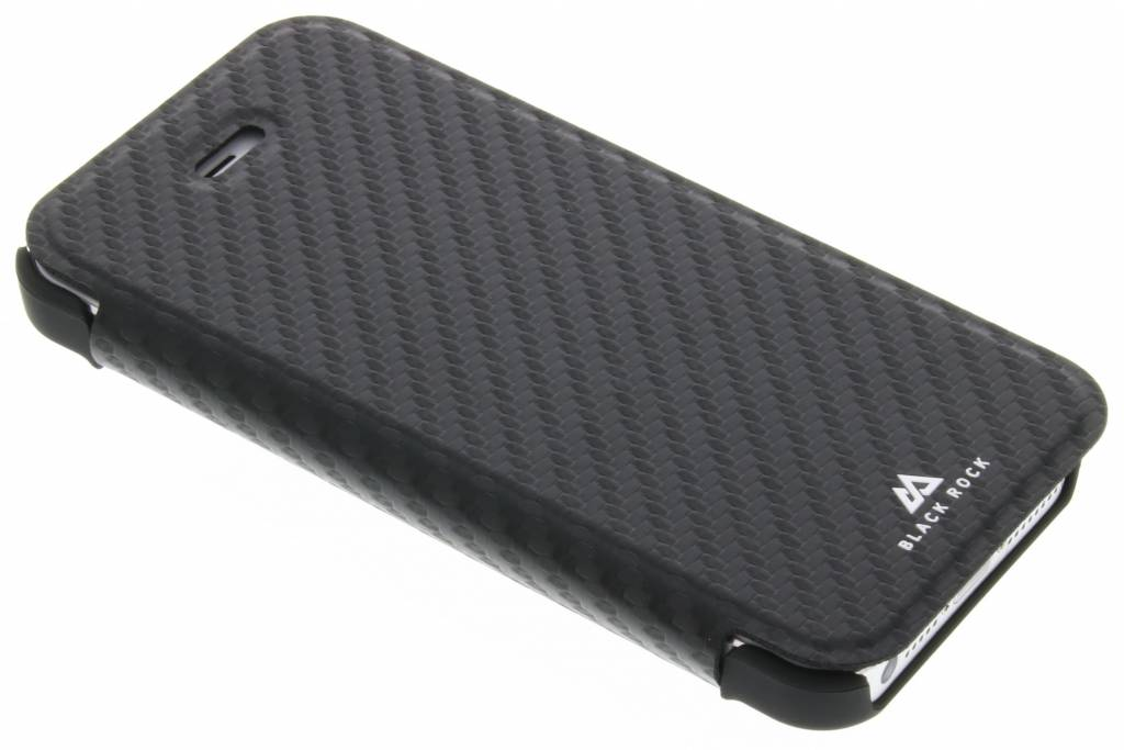 Blackrock Flex Carbon Booklet Apple iPhone 5-5S-SE Zwart