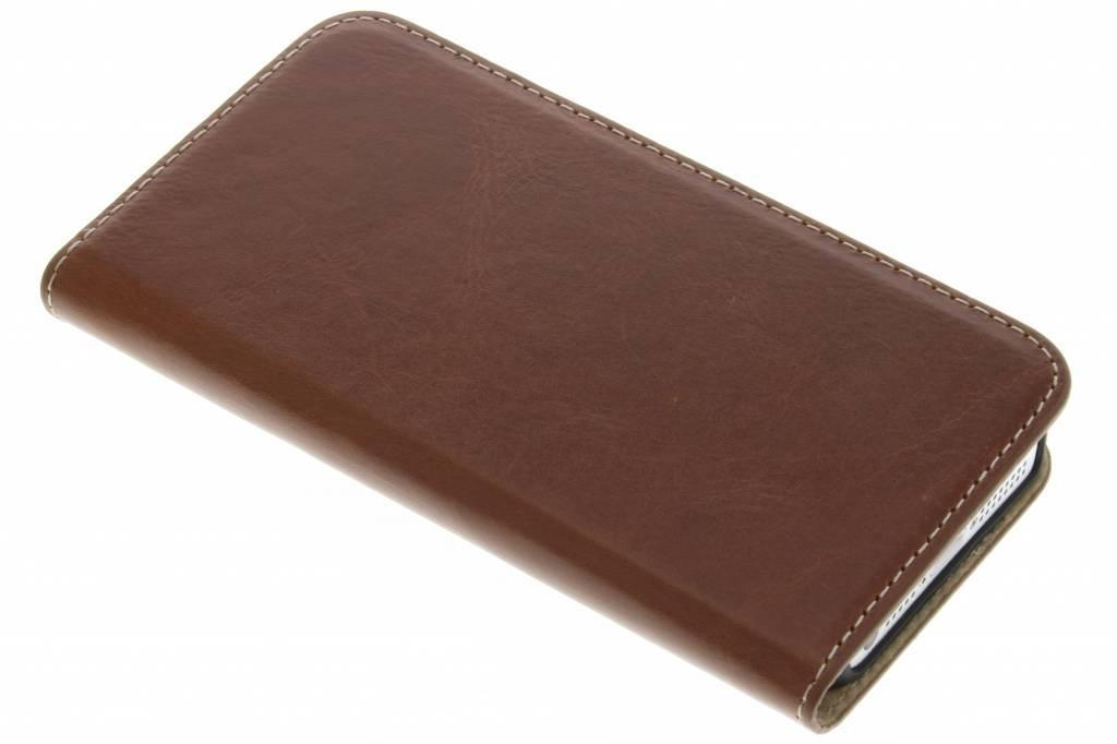 Mobiparts Bruine Excellent Wallet Case voor de iPhone 5 / 5s / SE