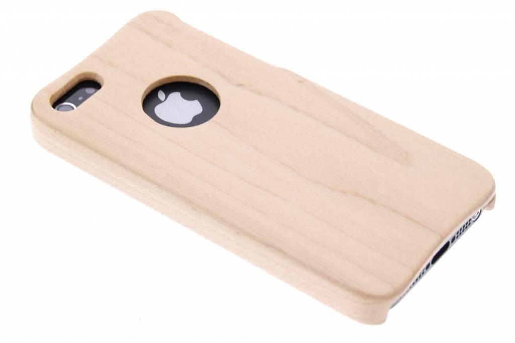 Lichtbruin echt houten hardcase hoesje voor de iPhone 5-5s-SE
