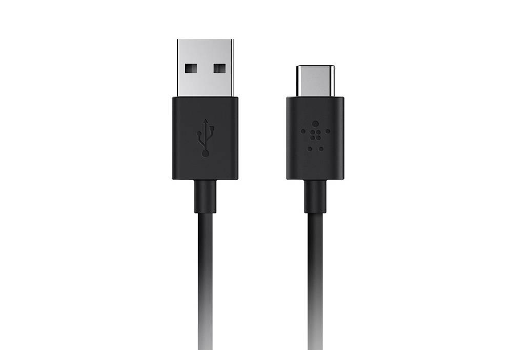Belkin USB 2.0 Aansluitkabel [1x USB 2.0 stekker A 1x USB 3.1 stekker C] 1.80 m Grijs Vlambestendig