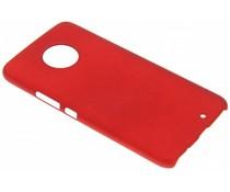 Rood effen hardcase hoesje Motorola Moto X4
