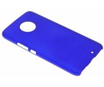Blauw effen hardcase hoesje Motorola Moto X4