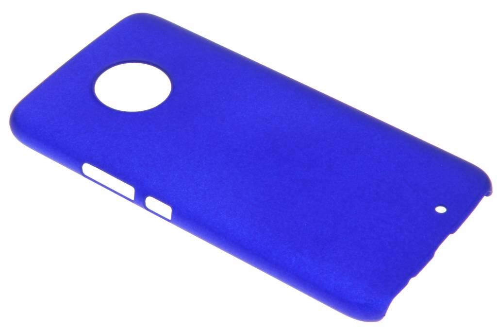 Blauw effen hardcase hoesje voor de Motorola Moto X4