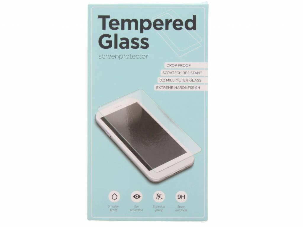 Zwarte gehard glas edge to edge screenprotector voor de Samsung Galaxy A8 (2018)
