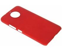 Rood effen hardcase hoesje Motorola Moto G6 Plus