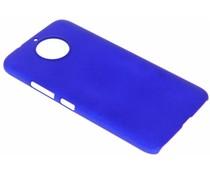 Blauw effen hardcase hoesje Motorola Moto G6 Plus