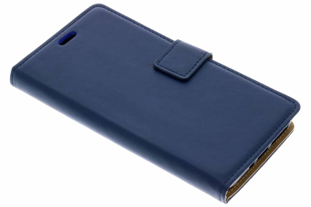Blauwe Basic TPU booktype hoes voor de Wiko View Prime