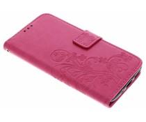 Klavertje bloemen booktype hoes Motorola Moto G6 Plus