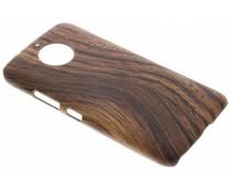 Hout design hardcase hoesje Motorola Moto G5S Plus