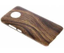 Hout design hardcase hoesje Motorola Moto G6