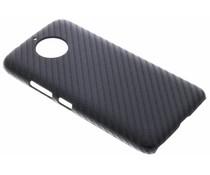 Zwart Carbon look hardcase hoesje Motorola Moto G5S Plus