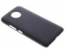Zwart Carbon look hardcase hoesje Motorola Moto G6 Plus