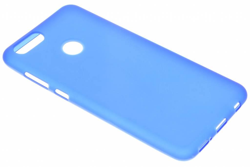Blauwe transparante gel case voor de Honor 7X