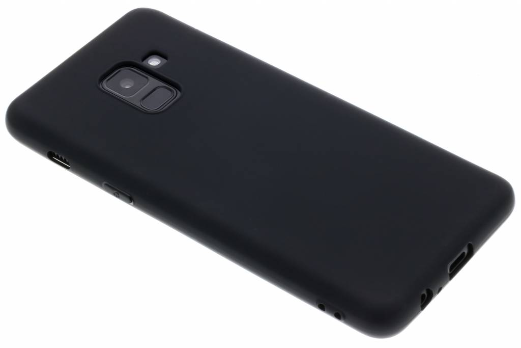 Zwarte Color TPU hoesje voor de Samsung Galaxy A8 (2018)