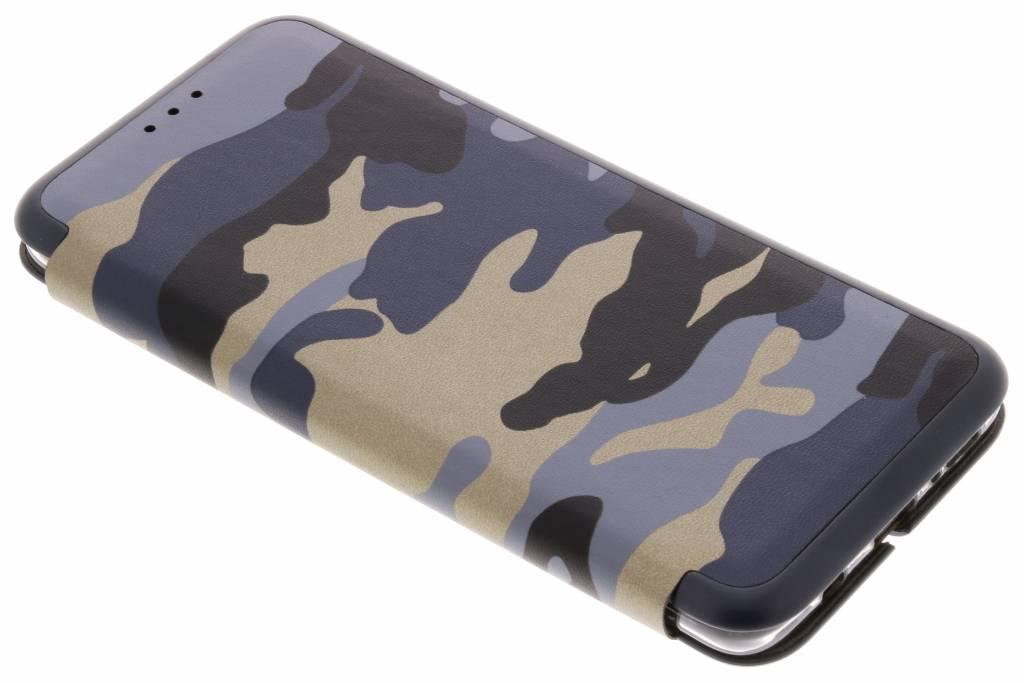 Blauwe Army Slim Folio Case voor de Samsung Galaxy S9 Plus