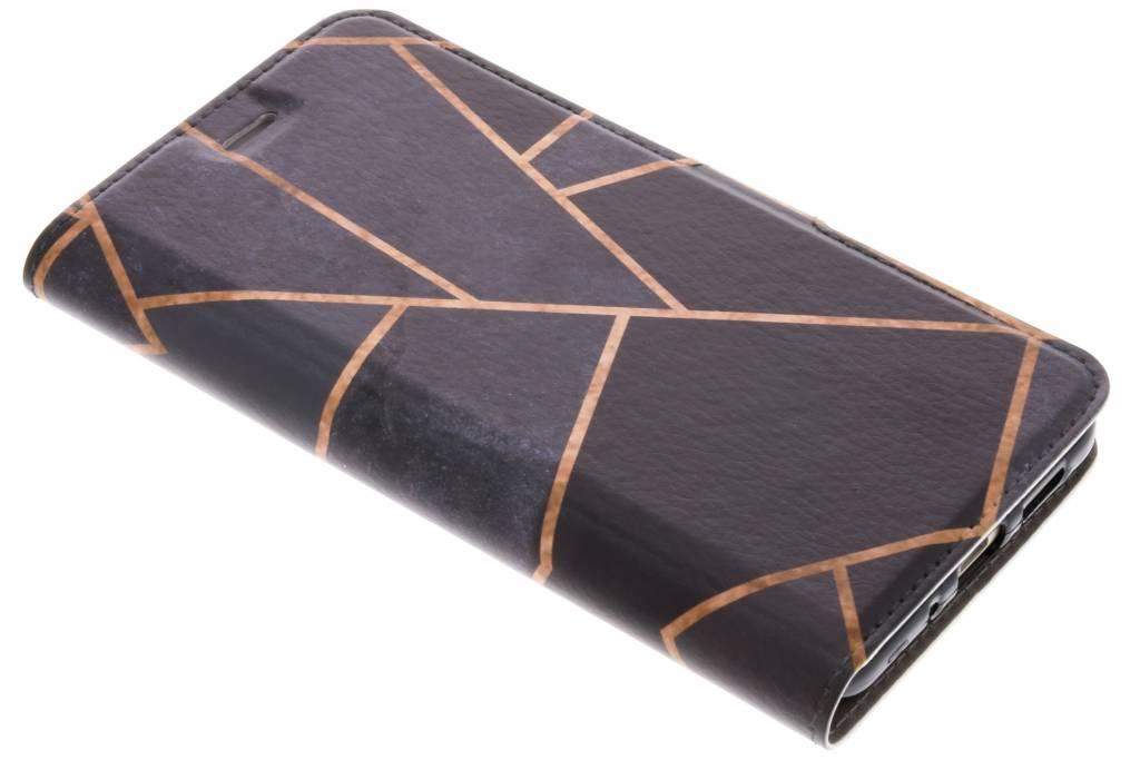 Zwart Grafisch Design TPU Booklet voor de Huawei P10 Lite