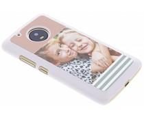 Ontwerp uw eigen Motorola Moto G5 Plus hardcase - Wit