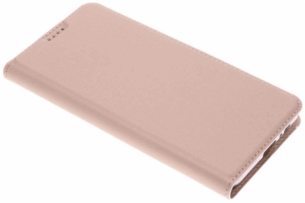 Rosé Gouden Slim TPU Booklet voor de Samsung Galaxy A8 (2018)
