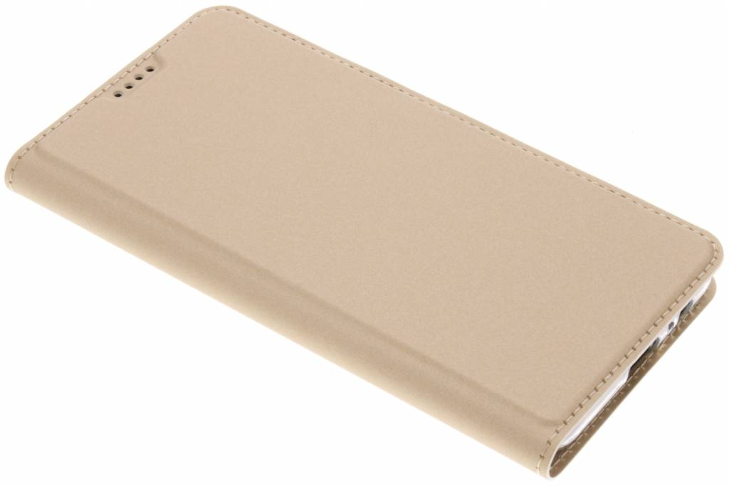 Gouden Slim TPU Booklet voor de Samsung Galaxy A8 (2018)