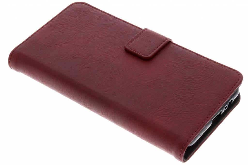 Rode Luxe leder booktype hoes voor de Samsung Galaxy A8 (2018)