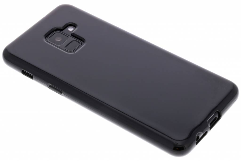 Zwarte gel case voor de Samsung Galaxy A8 (2018)