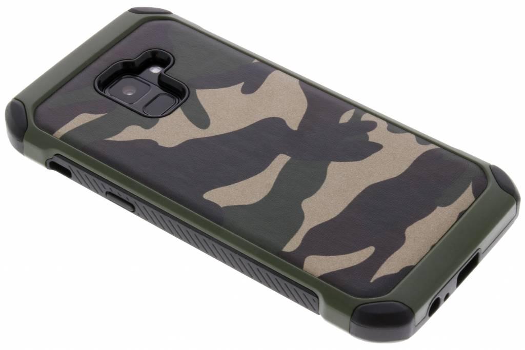 Groen army defender hardcase hoesje voor de Samsung Galaxy A8 (2018)