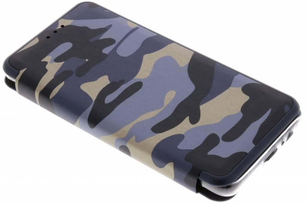 Blauwe Army Slim Folio Case voor de Samsung Galaxy A8 (2018)