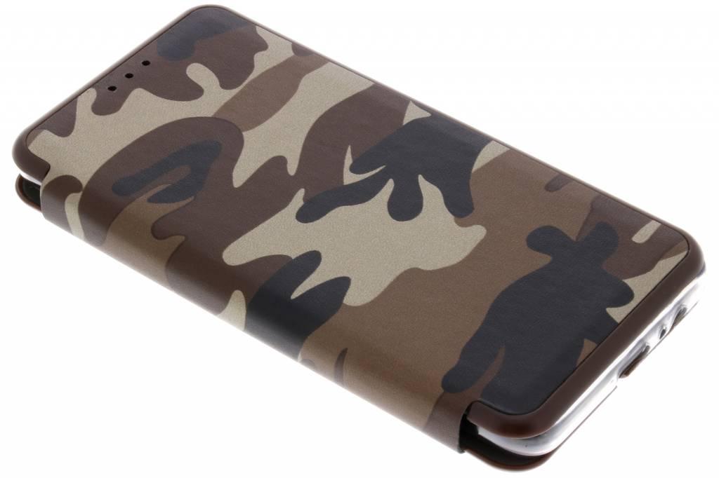 Bruine Army Slim Folio Case voor de Samsung Galaxy A8 (2018)