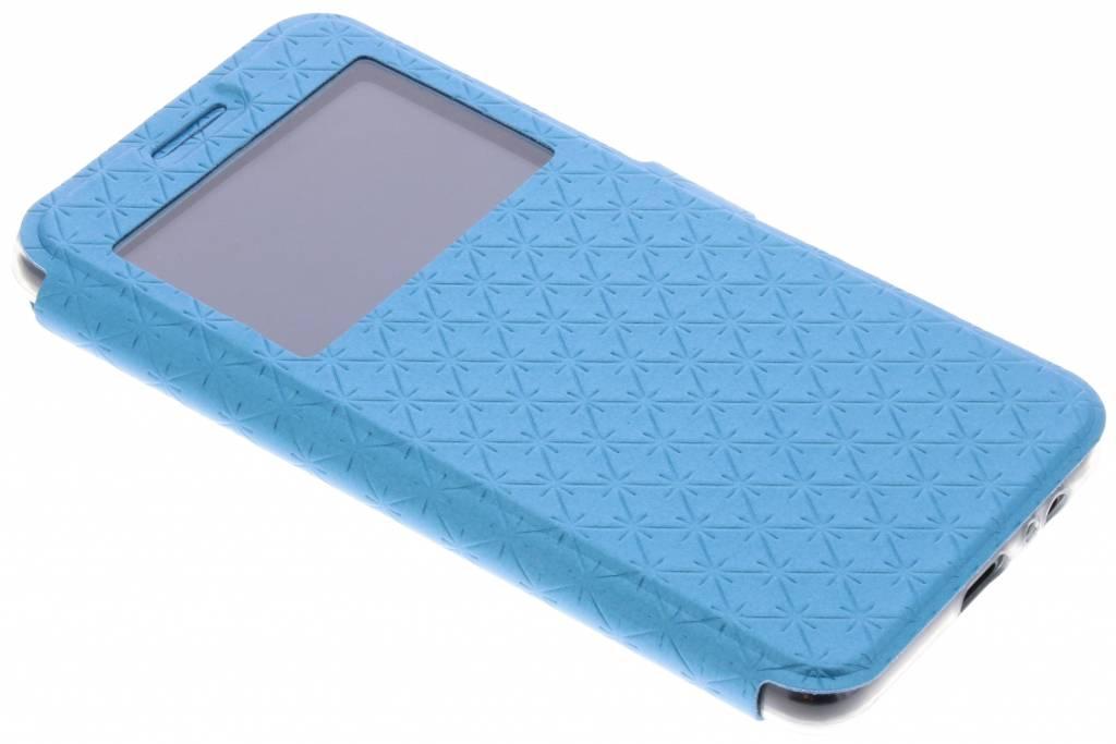 Blauwe rhombus hoesje voor de Samsung Galaxy A8 (2018)