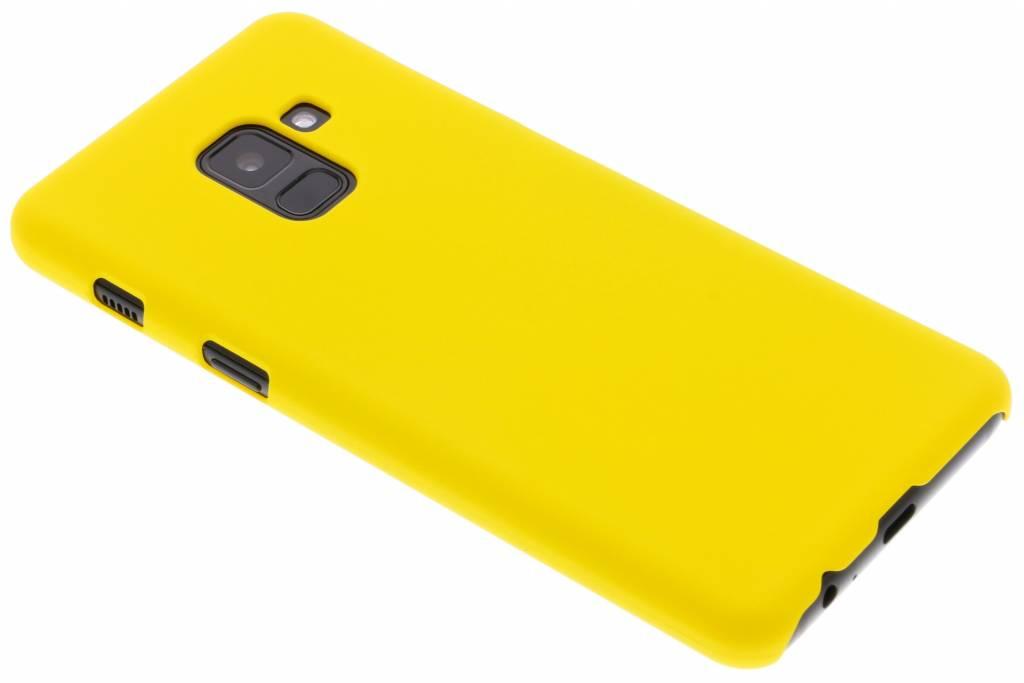 Geel effen hardcase hoesje voor de Samsung Galaxy A8 (2018)