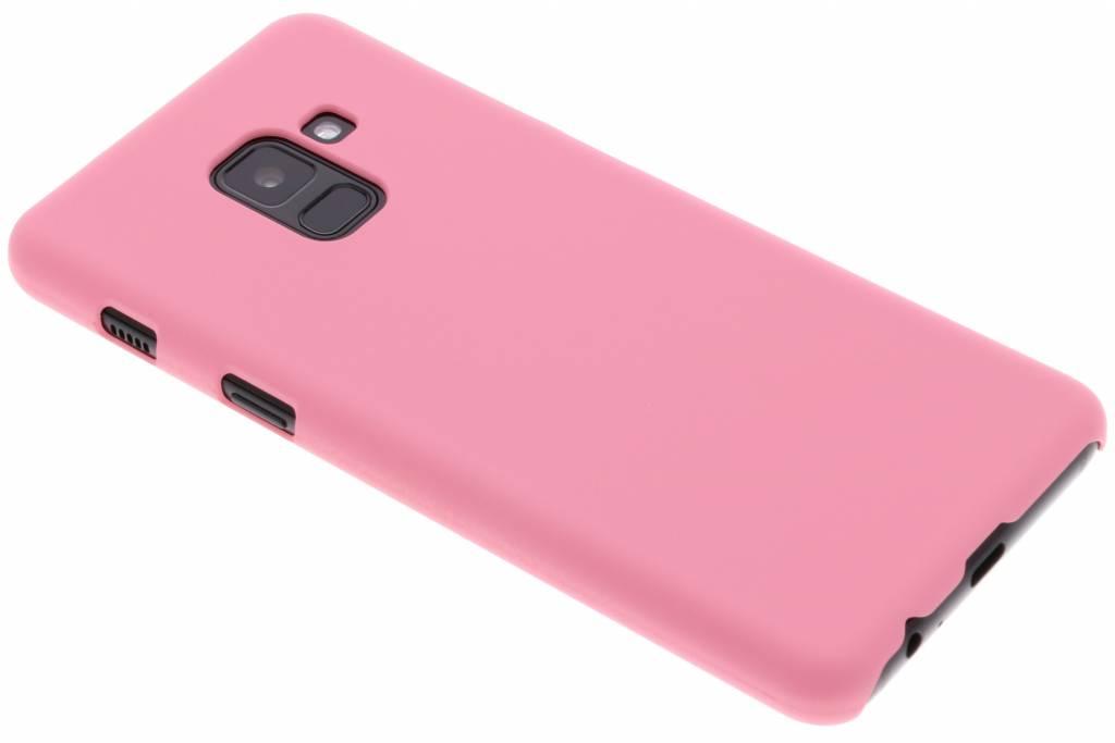 Roze effen hardcase hoesje voor de Samsung Galaxy A8 (2018)