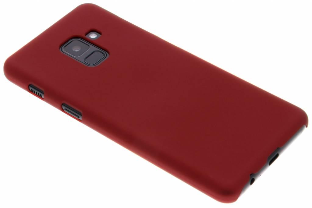 Rood effen hardcase hoesje voor de Samsung Galaxy A8 (2018)