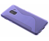 Paars S-line TPU hoesje Samsung Galaxy A8 (2018)